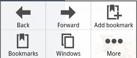 Android Browser Menu Button