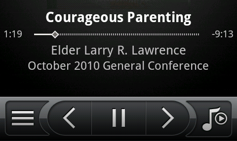 LDS General Conference on the Android Music Player