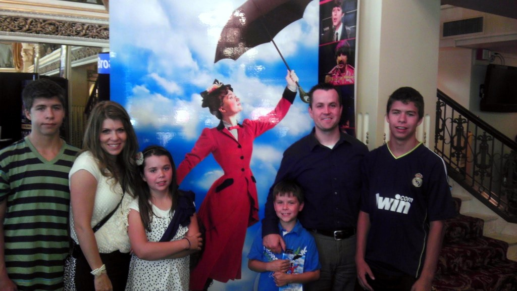 Mary Poppins at the Capitol Theater with the family sans one little bear.