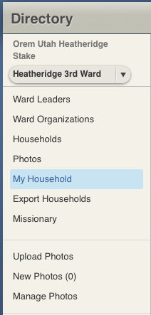 LDS.org My Household