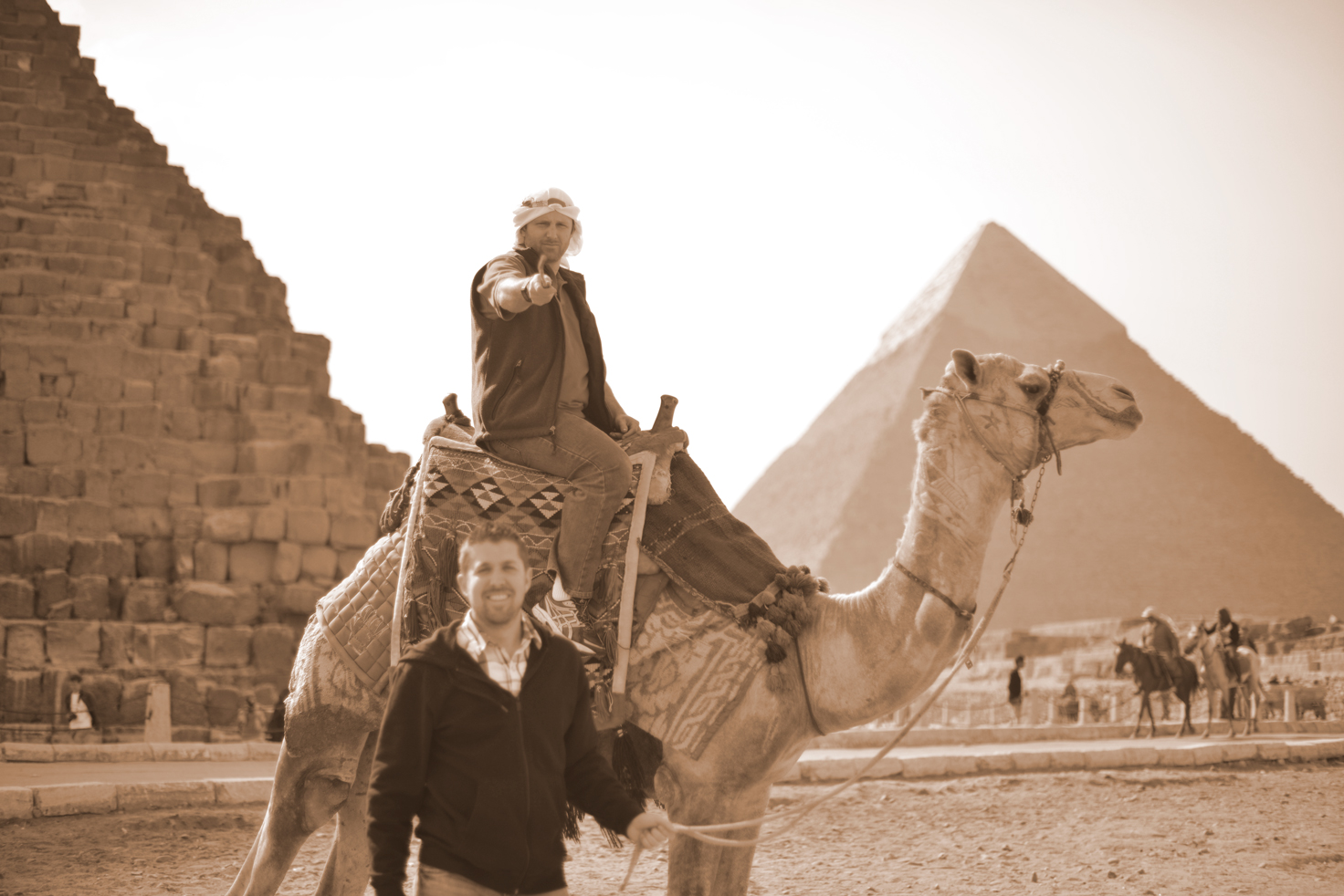 A Camel ride at the Great Pyramids
